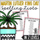 Martin Luther King Day Spelling List, Game, Award and Voca