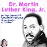 Martin Luther King Day Adapted Biography Report and Flip Book