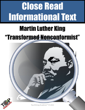 Martin Luther King Jr. Transformed Non Conformist Close Re