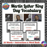 Martin Luther King Day Vocabulary Boom Cards™ (Distance Learning)