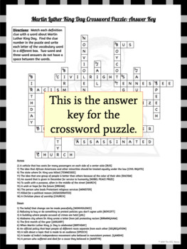 Martin Luther King Day Word Search Crossword Puzzles By The Esl Nexus