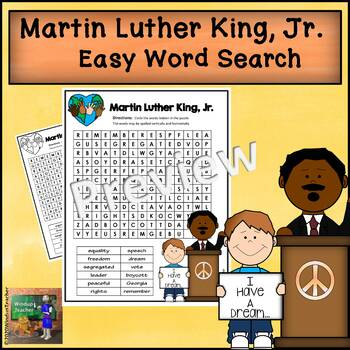 Martin Luther King, Jr. Word Search *Easy