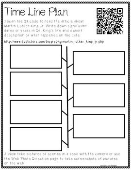 Martin Luther King Day iPad Activity for Reading & Writing: TimeLine App