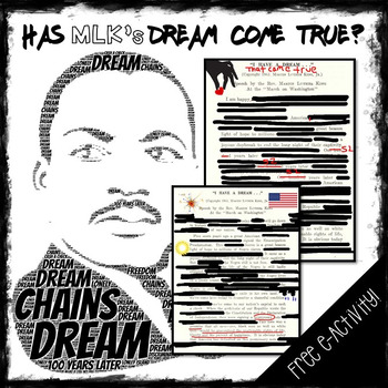 Martin Luther King Digital Blackout Text Activity and Argumentative Activity