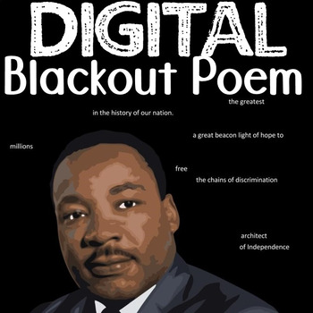 Martin Luther King Digital Blackout Text Activity and Argu