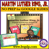 Martin Luther King Digital Interactive Notebook for Google Drive - No Print