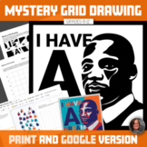 Martin Luther King Digital Mystery Grid Drawing-Digital In