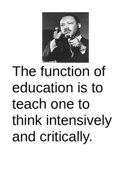 Martin Luther King  EDUCATION Poster