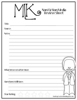 Martin Luther King Early Finisher Activity Pack