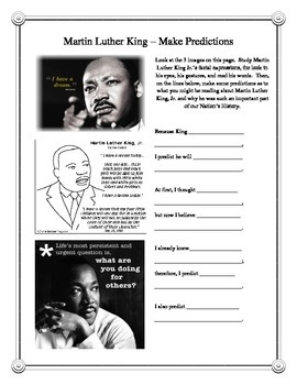 Martin Luther King Entire High Interest Unit - Dozens of Common Core Objectives