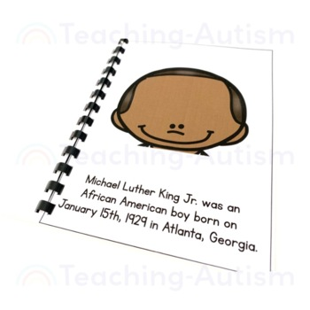 Martin Luther King Flashcard Story MLK