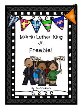 Martin Luther King Freebie! No Prep Printables!