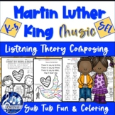 Martin Luther King Fun Music Worksheets, NO-Prep, Listenin