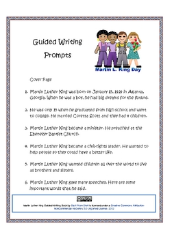 Martin Luther King Guided Writing Book