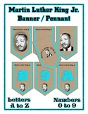 Martin Luther King Holiday Banner Chevron Set - Entire Alphabet & Numbers
