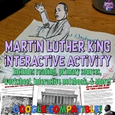 """Martin Luther King """"I Have a Dream"""" Interactive Notebook & Worksheet"""