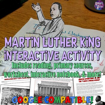 """Martin Luther King """"I Have a Dream"""" Interactive Notebook &"""