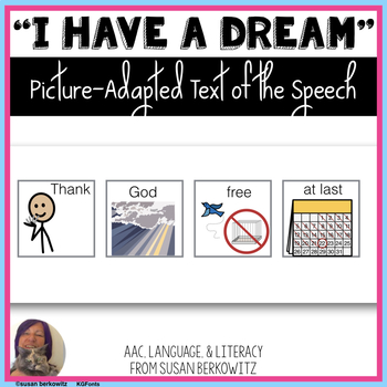 Martin Luther King I Have a Dream Speech Picture Adapted for Special Education