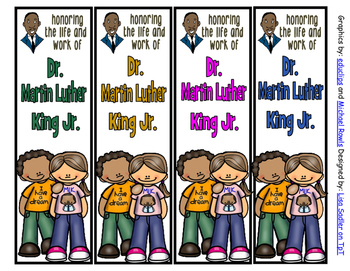 Martin Luther King-  I have a Dream Bookmarks -Color AND Black and White