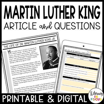 Martin Luther King Passage and Questions