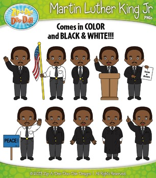 Martin Luther King JR Characters Clipart Set — Includes 20