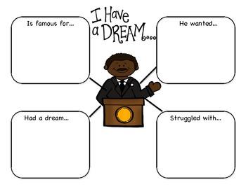 Martin Luther King J.R. Graphic Organizer Freebie