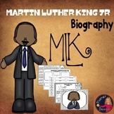 Martin Luther King JR MLK biography black history Famous Americans LOW PREP