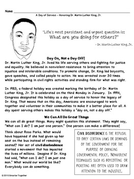 Martin Luther King Jr. Service Learning Project