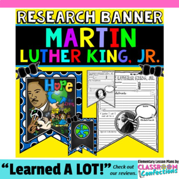 Martin Luther King, Jr. Writing: Research Project: MLK Activity