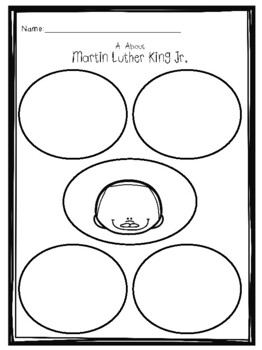 First grade Martin Luther King Jr. Activities and Emergent Reader