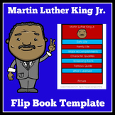 Martin Luther King Jr. Activity | Martin Luther King Flip Book Template