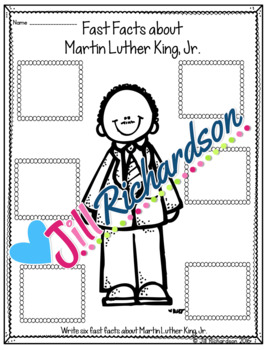 Martin Luther King Jr. Writing - Great Black History Month Activities