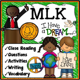 Martin Luther King Activities {MLK Reading & Activities}