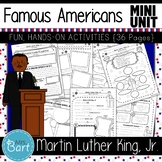 Martin Luther King, Jr.- NO PREP Mini Unit {Famous Americans}