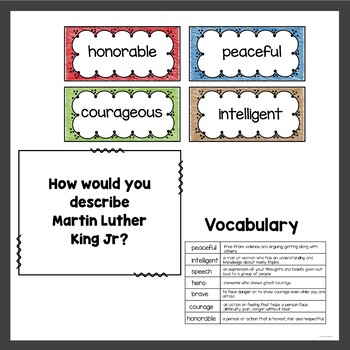 Martin Luther King Jr Activities and QR Code Stories