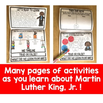 Martin Luther King Jr Flip Up Book