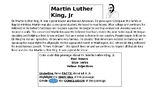 Martin Luther King, Jr. - A Close Reading Activity