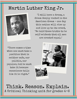 Martin Luther King Jr. : A Critical Thinking Unit, grades 4-7 {No Prep!}