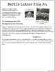 Martin Luther King Jr. : A Critical Thinking Unit, grades