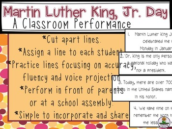 Martin Luther King Performance