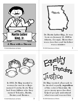 """Martin Luther King, Jr: A Man with a Dream"" Mini-Book"