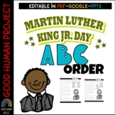 Martin Luther King Jr. ABC Order   Editable