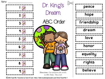 Martin Luther King, Jr. ABC Order FREEBIE