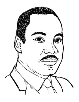 Martin Luther King Jr. Acrostic Poem/Coloring Page