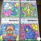 Martin Luther King Jr. Activities Color by Skills for Preschool and Kindergarten