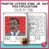 Martin Luther King Jr. Activities Multiplication Color by Code