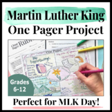 Martin Luther King Jr Activities Digital   Research and One Pager for MLK Jr Day
