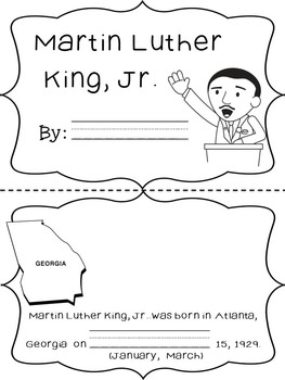 Martin Luther King, Jr. Activities Pack