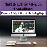 Martin Luther King, Jr. Activities, Word Art Technology, Black History Month
