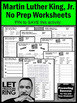 Martin Luther King Jr Activities, Black History Month, MLK Day Worksheets